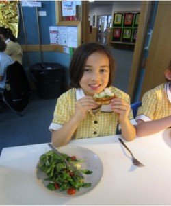Carey Grammar students enjoys their nude food creation